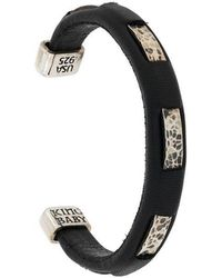 King Baby Studio - Hammered Detailed Cuff - Lyst