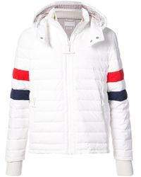 Thom Browne - Downfilled Ski Jacket With Red - Lyst