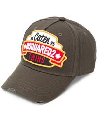 DSquared² - Patch Detail Baseball Cap - Lyst