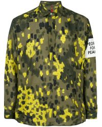 OAMC - Patch Detail Camouflage Shirt - Lyst