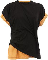 Aganovich - T-shirt A Doppio Strato - Lyst