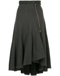 Hysteric Glamour - Ruffle Asymmetric Skirt - Lyst