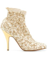 Ferragamo - Brocade Ankle Boots - Lyst