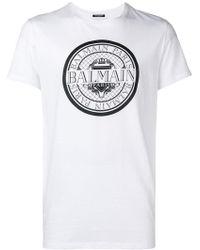 Balmain - Logo Print T-shirt - Lyst
