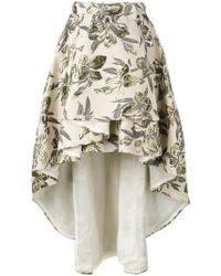 Christian Pellizzari - Asymmetric Printed Skirt - Lyst