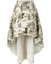 Christian Pellizzari - Asymmetric Printed Skirt - Lyst