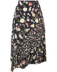 Jason Wu - Flared Floral Skirt - Lyst