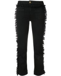 The Seafarer - Cropped Trousers With Looped Fringe - Lyst