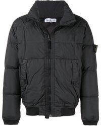 3791f79ea Stone Island Padded Jacket in Black for Men - Lyst