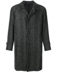 Tagliatore - Check Single Breasted Coat - Lyst