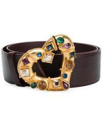 Dolce & Gabbana - Embellished Heart Buckle Belt - Lyst