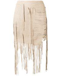 Magda Butrym | Woven Fringe Mini Skirt | Lyst