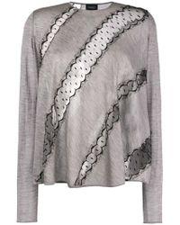 Giambattista Valli - Diagonal Lace Sweatshirt - Lyst
