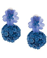 Sachin & Babi - Floral Embellished Charm Earrings - Lyst