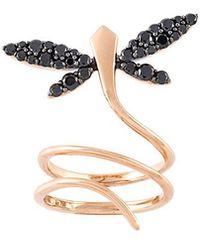 Anapsara - Diamond Dragonfly Ring - Lyst