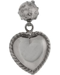 Red Valentino heart shaped earrings - Metallic OFgLrNM