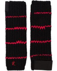 Raf Simons - Handschuhe mit Streifen - Lyst