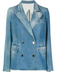 Golden Goose Deluxe Brand - Embellished Denim Jacket - Lyst