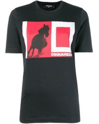 DSquared² - Colour-block Logo T-shirt - Lyst