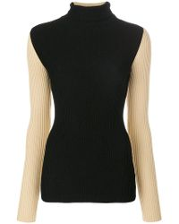 Petar Petrov - Contrast Sleeve Knitted Top - Lyst