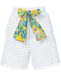 MSGM - Frayed Tweed Shorts - Lyst