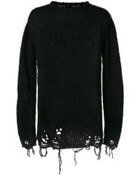 Thom Krom - Holey Knit Jumper - Lyst