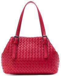 Bottega Veneta - China Red Intrecciato Nappa Tote - Lyst
