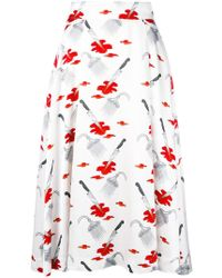 Olympia Le-Tan - Printed Skirt - Lyst