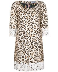 Blumarine - Leopard Print Shift Dress - Lyst