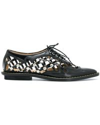Toga Pulla - Pointed Lace Up Loafers - Lyst
