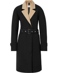 Burberry - Two-tone Tropical Gabardine Belted Car Coat - Lyst