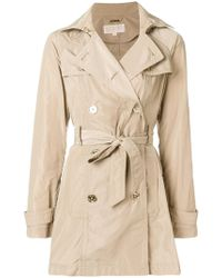 MICHAEL Michael Kors - Short Trench Coat - Lyst
