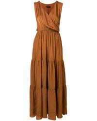 Roberto Collina - Sleeveless V-neck Dress - Lyst