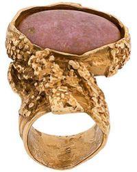 Saint Laurent - Stone Ring - Lyst