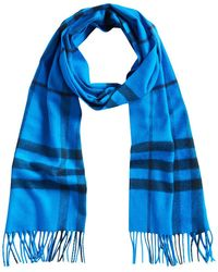 Burberry - Overdyed Exploded Check Cashmere Scarf - Lyst
