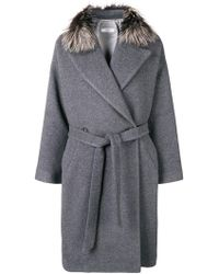Peserico - Belted Coat - Lyst