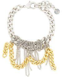 MM6 by Maison Martin Margiela - Messy Chain Bracelet - Lyst