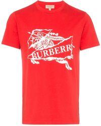 Burberry - 'Horseman' T-Shirt mit Logo - Lyst