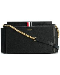 Thom Browne - Accordion Bag (29,5x16x8 Cm) With Detachable Chain Shoulder Strap In Pebble Lucido Leather - Lyst