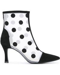G.v.g.v - Flocked Mesh Ankle Boots - Lyst