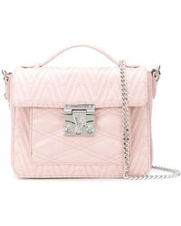Versace Jeans - Quilted Logo Tote - Lyst