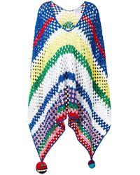 Mira Mikati - Rainbow Crochet Striped Poncho - Lyst
