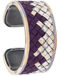 Bottega Veneta - Woven Cuff Bracelet - Lyst