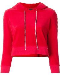 Juicy Couture - Swarovski Embellished Velour Hoodie - Lyst