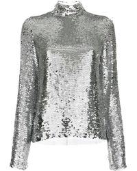MSGM | Sequinned Top | Lyst