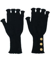 Thom Browne - Fingerless Wool Gloves - Lyst
