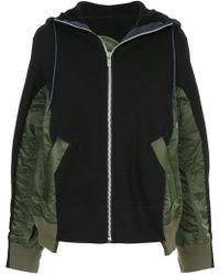 Sacai - Panelled Hooded Jacket - Lyst