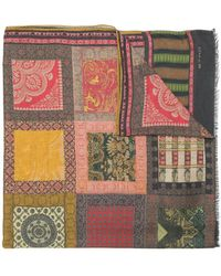 Etro - Tapestry Patchwork Scarf - Lyst