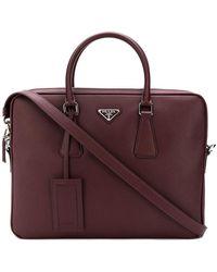 Prada - Saffiano Business Bag - Lyst