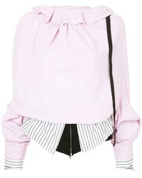 Aganovich - Layered Oversized Sleeve Top - Lyst